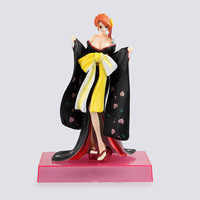 20CM Anime kimono Version Girl ONE PIECE Nami PVC 1/8 Car Interior Decoration Dolls Action Figure Collectible Model Toy BOX D325