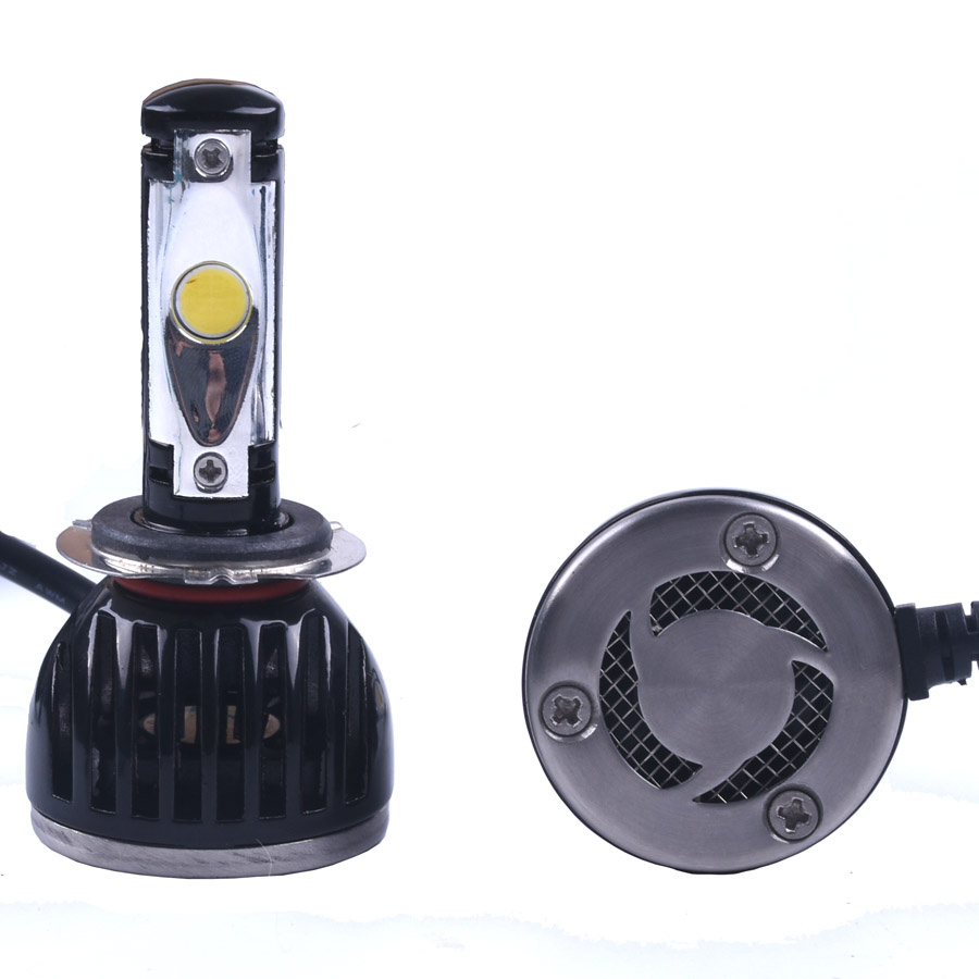ФОТО Led Car Auto Headlight H7 All In One White Bulb for Automotives Headlight Fog lamp DRL with Fan Play & Plug