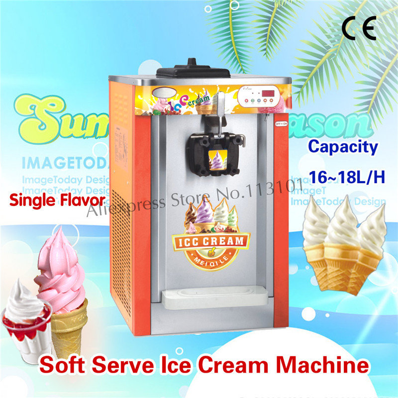 Commercial Ice Cream Maker Digital Control Soft Ice Cream Making Machine Brand New Hot Sale Single Flavor 16~18L/H capacity ice maker household ice making machine small commercial ice maker milk tea shop ice machine in red color hzb 12a
