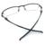 Laura Fadas Estilo Dos Esportes Da Forma Dos Homens Óculos de Armação Design Curva de Canela-Gun cinza Armações Templo de Borracha Preta para vista