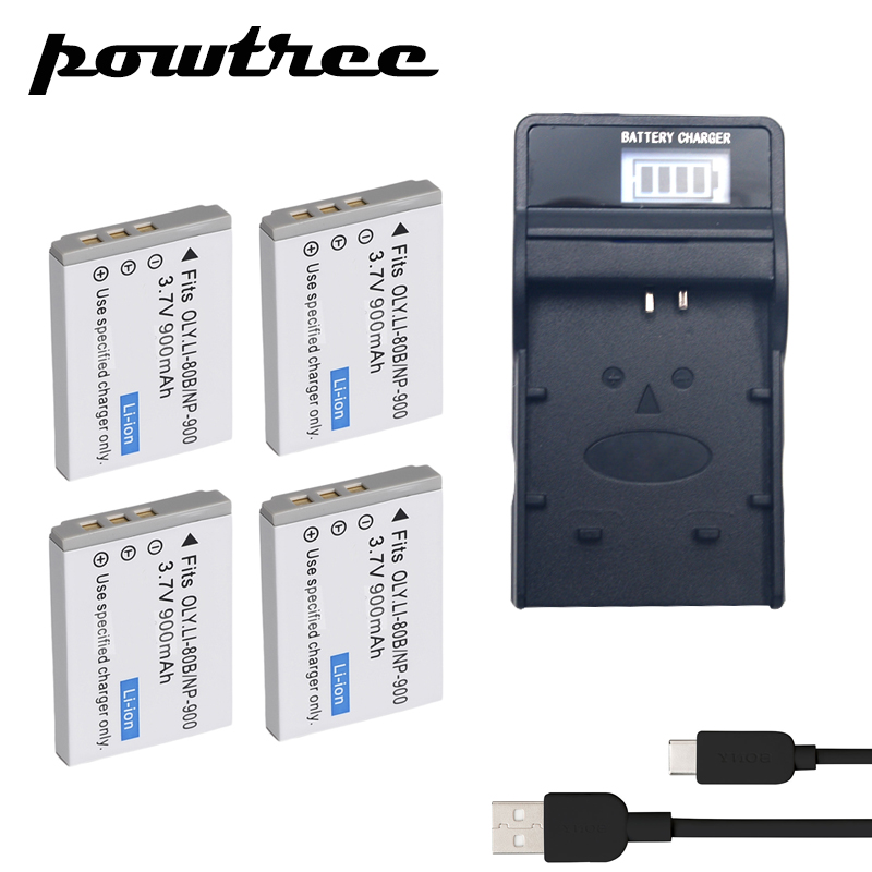 Batteries 4packs Np-900 Li-ion Battery 3.7v 900mah+1port Battery Charger With Led For Minolta Np-900 Ve40 E50 Aigo V760/880/1080 Benq E40/ Keep You Fit All The Time