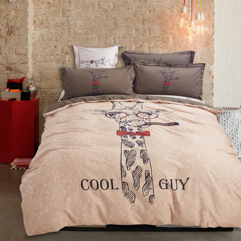 Hip Fashion Cartoon Bed Linen Owl Hyde Dog Cat Birds Horse Bedding Set Duvet Cover Sheet Pillow Cases King Queen Size In Sets From Home