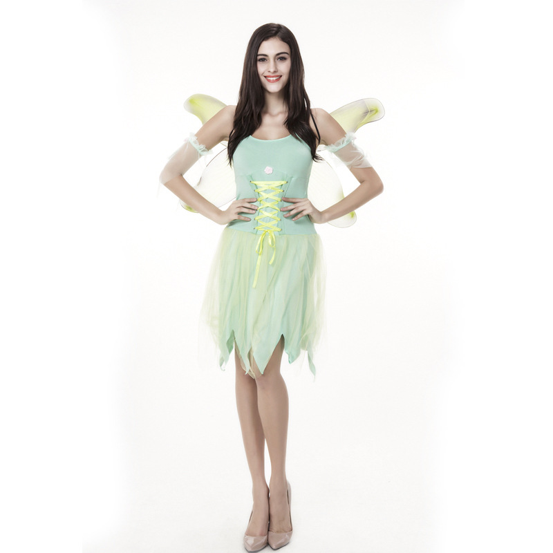 Halloween Costume Adult Green Beautiful Faery Elves Angel ...