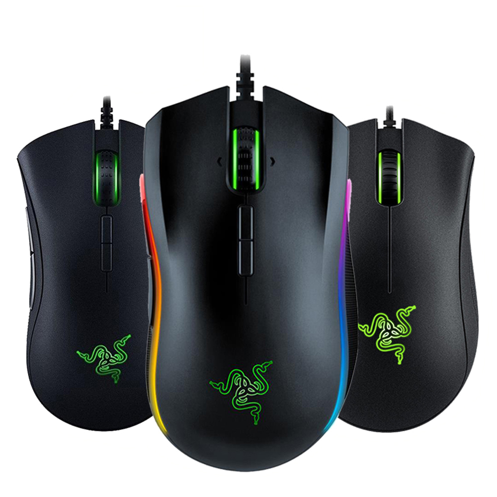 Razer Gaming Mouse Wired-Mouse-Gamer Ergonomic Chroma-Lighting 16000 Dpi Elite Optimized