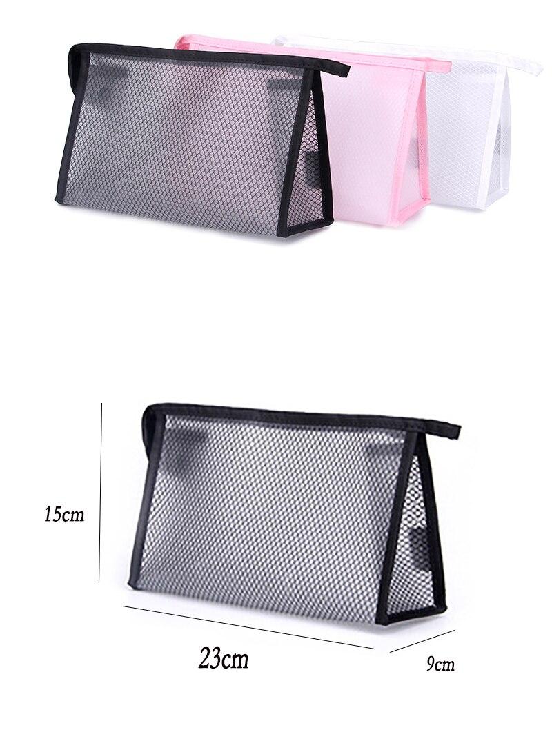 RDGGUH New Travel Mesh Cosmetic Bag Women Fashion Beauty Makeup ... afaf22580d9e3