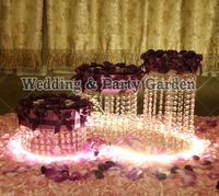 Acrylic Cupcake Stand Cup Cake Tower Tree wedding decoration table centerpiece 3pcs/lot crystal cake holder D20,20,30,H35,25,15