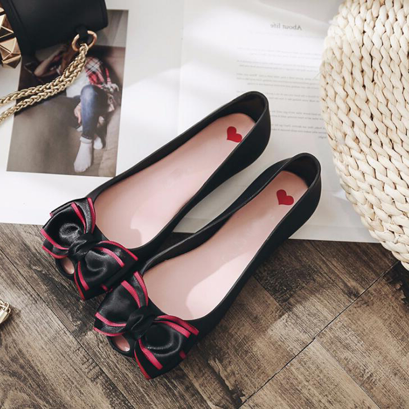 2018 new summer Women sandals casual flat Jelly shoes sandals women fashion butterfly-knot shoes for women size 35 - 41 2018 summer air mesh shoes women casual sneakers women flat shoes new fashion lovers unisex beach shoe casual sandals large size