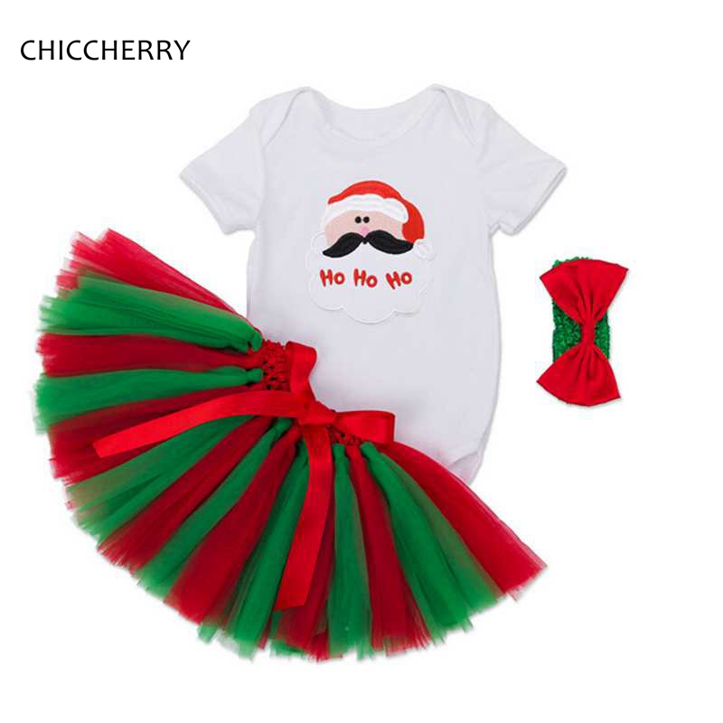 f9cf8fc529106 US $16.89 |Santa Claus Christmas Baby Girl Clothes Infant Bodysuit +  Hairband + Lace Skirt Newborn Tutu Set Roba De Bebe Overalls for Baby-in  Clothing ...