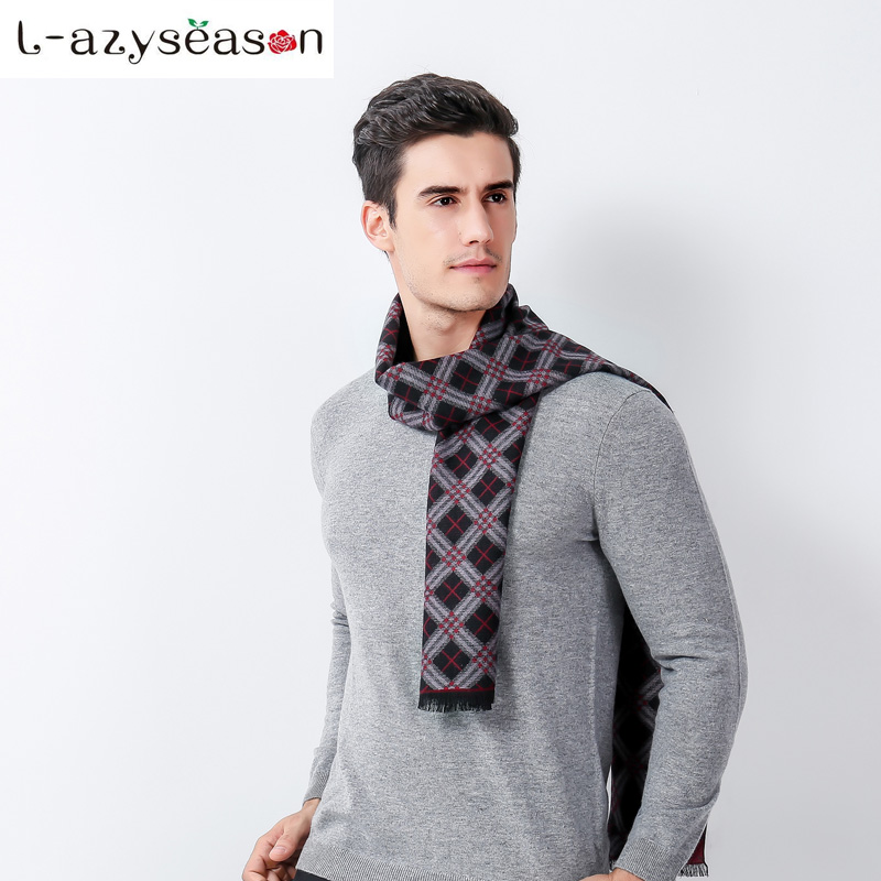 New British Style Plaid Men Scarf Winter Fashion Classical for Men and Woman Imitation Cashmere warm Scarves Tassel