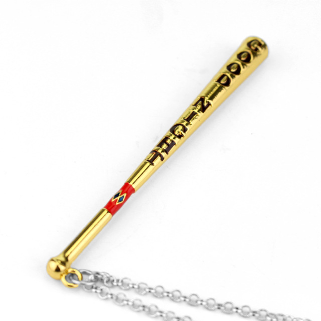 Suicide Squad Harley Quinn Necklace Baseball Bat Pendant Necklace