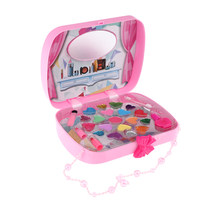 Princess Girls Deluxe Makeup Palette Toys Cosmetic Set Handbag Pink for Performance(China)
