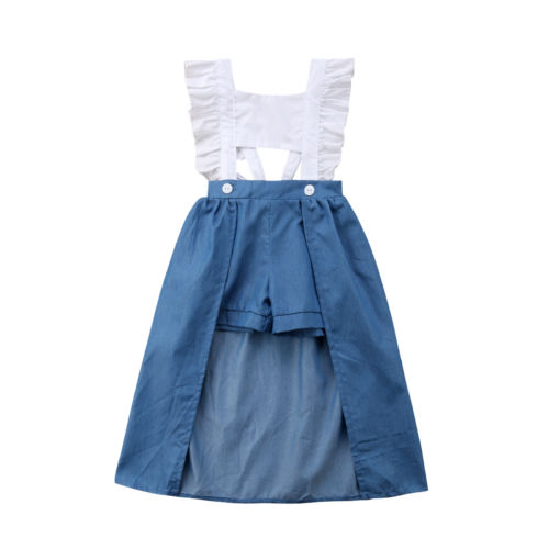 Toddle Baby Kids Girls Tops Shorts Trailing Sundress Dress Clothes Outfit