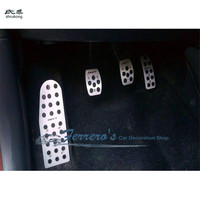 Free shipping High quality for Suzuki Swift AT MT Stainless steel rest Pedal + Gas Pedal + Brake Pedal