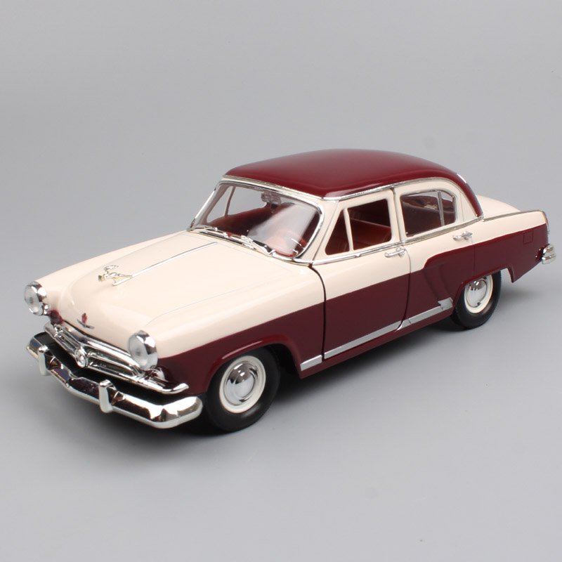 1:24 <font><b>Scale</b></font> Russia Soviet Union Gorky GAZ 21 M21 Volga saloon 1957 classic retro diecast vehicle model miniature <font><b>car</b></font> toy for baby image