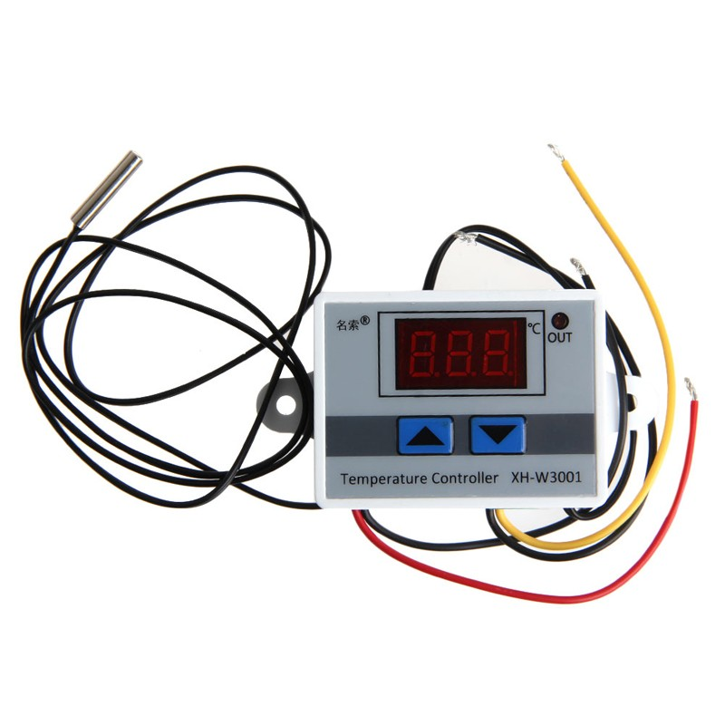 220V Digital LED Temperature Controller 10A Thermostat Control Switch Probe New 1x 220v 16a thermostat knob refrigerator temperature switch controller probe