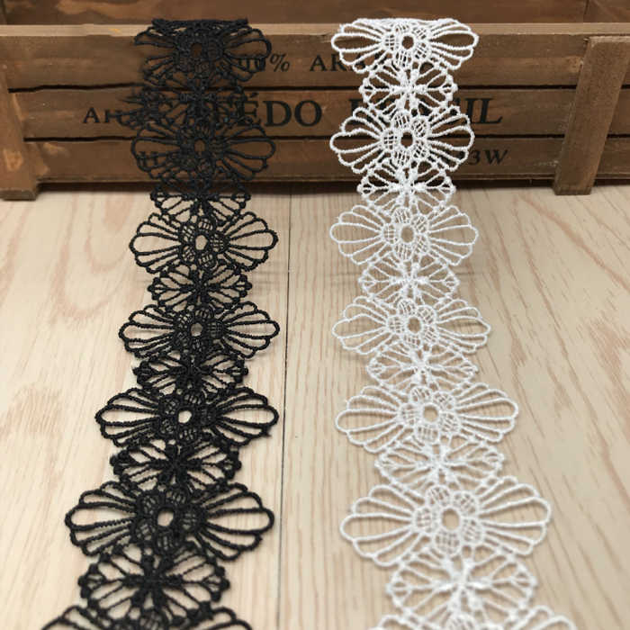 wide 4.1-11cm Lace Ribbon DIY Sew Apparel Accessories Handmade Trims Wedding birthday party Scrapbook necklace Decoration Wh