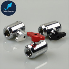G1/4 Vent Valve Black Silver Red Aluminum Handle double inner teeth Water Ball Valve waterway control for PC Water cooling