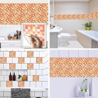 Yanqiao Mosaic Tiles Wall Sticker Waterproof Bathroom Kitchen Backsplash Removable Multi Color Choice 7 87x7 87