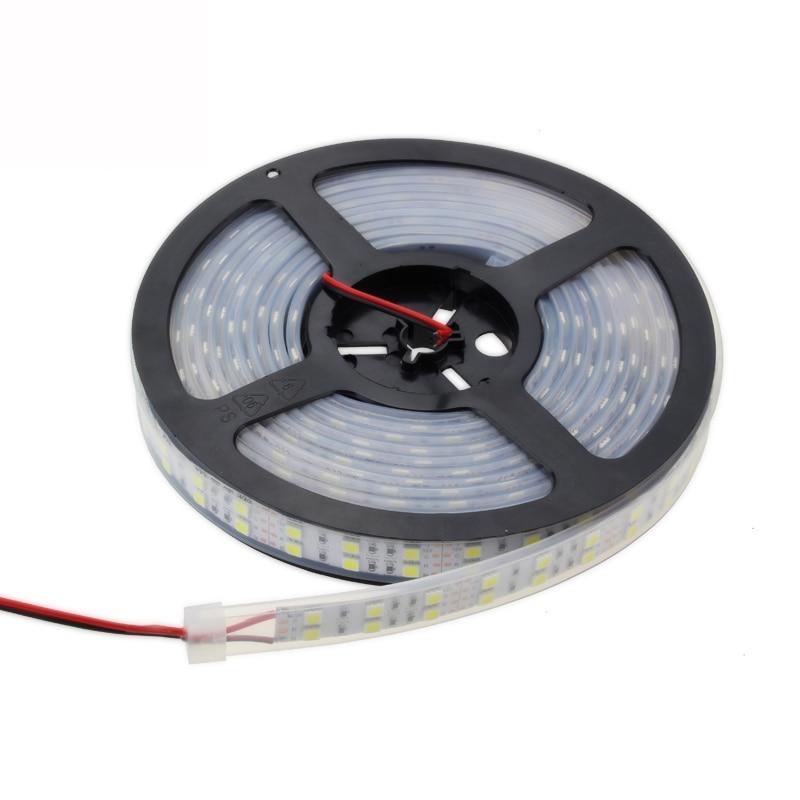 Double Row SMD 5050 LED Strip DC12V 24V 120led/m Waterproof Led Ribbon Tape IP67 1M/2M/3M/4M/5M