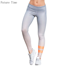 Gradient color Printed Leggings Women Sporting Fitness Leggings 5 Colors Female Skinny Stretch Pencil Pants Casual Jeggings