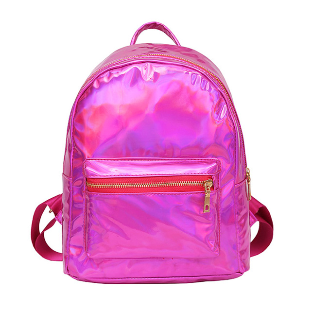 Small Casual Holographic Backpack