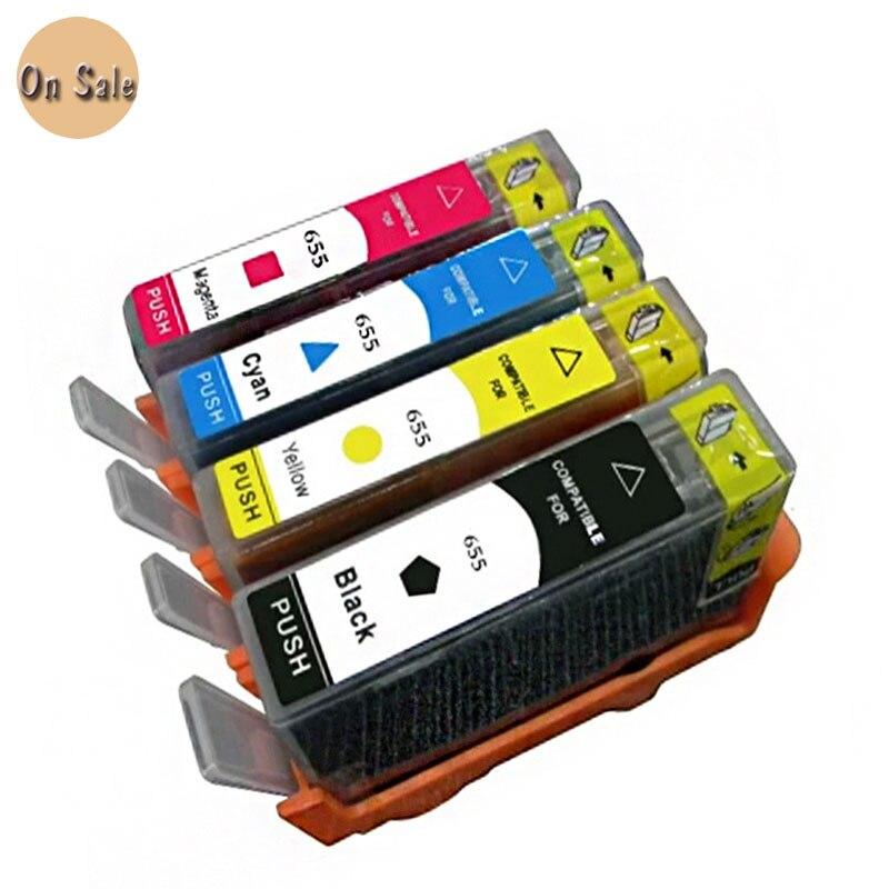 Hisaint Für hp 655 tinte patrone für hp 655 655xl Deskjet Tinte Vorteil 3525 4615 4625 5525 6520 6525 freies verschiffen heißer verkauf
