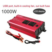 Portable 1200W Power Car Vehicle Inverter with LCD Display 12V To 220V Automotive Converter Power Supply with 4 USB Ports