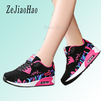 Hot Sale Women Shoes 2016 Newest Lace Up Air Mesh Breathable Platform Fashion White Black Red