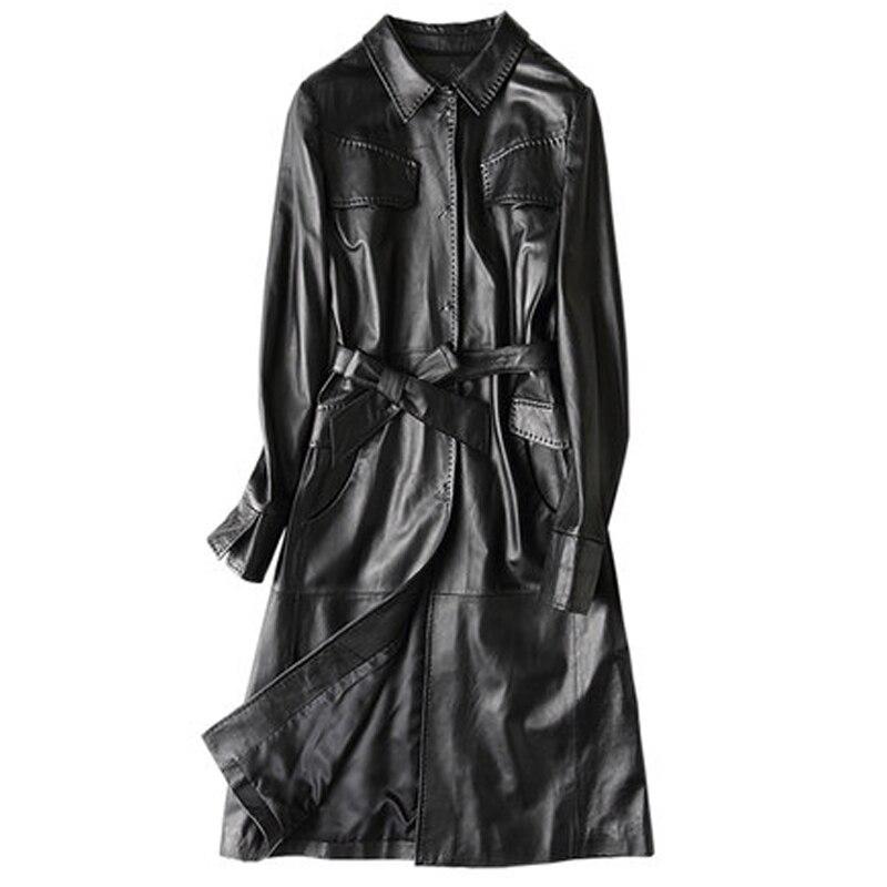 Coupe Noir Black Manteaux Long Veste Femme 2019 En Manteau Printemps