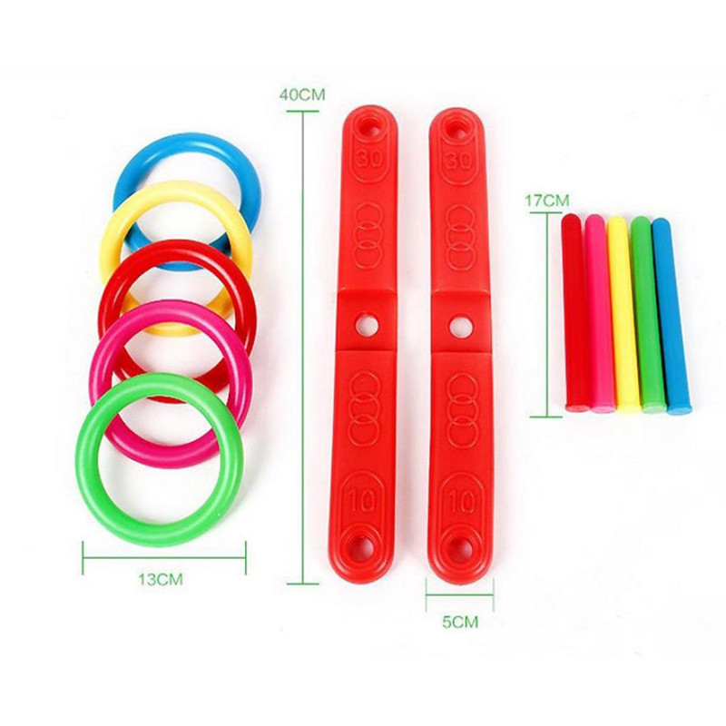 5-MB Hoop Ring Toss Plastic Ring Toss Quoits Garden Game Pool Toy Outdoor Fun Set NEW ...