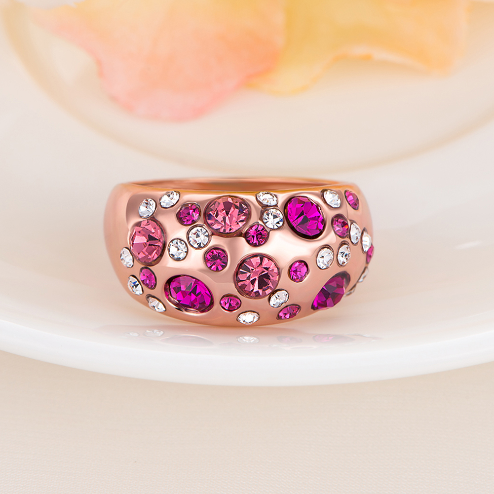 2017 New Luxury celebrity multicolor Cubic Zirconia Rose Gold Rings ...