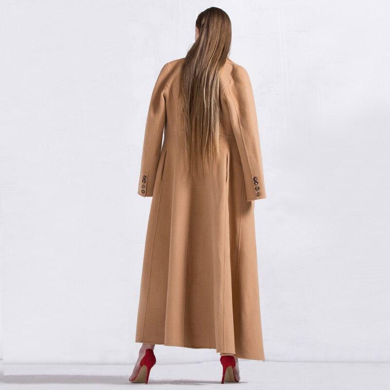 Dame Boutonnage Long Col Rabattu Pardessus Style Laine Manteau D'hiver Double 6261 Df Ol Musulman Femmes Casual Femme Chaud ZlOPwXTuki