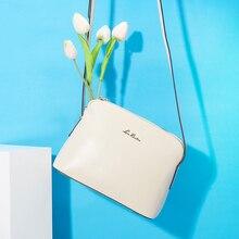 Laorentou 100% cuero genuino bolsas de mensajero de las mujeres bolso crossbody bolso de las mujeres de la manera señoras de lujo de diseño de hombro de las mujeres