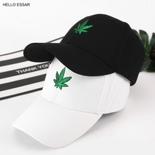 New Men Creative Maple Hemp Leaf Embroidery Baseball Hat Avoid Outdoor Sun Hot W