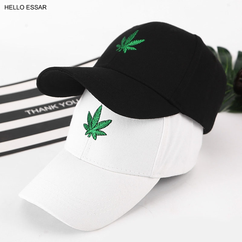 New Men New Maple Hemp Leaf Embroidery Baseball Hat Avoid Outdoor Sun Hot Women Best Adjustable Travel Baseball Cap CP1026