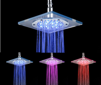 LED MS8030 A5 Temperature Sensor Shower 3 Colors Water Pressured 8 Shower Heads Supernova Sale Top