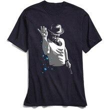 Tshirt Breaking Bad Men T Shirts Retro T-Shirt TV Mr White Heisenberg Jessie Pinkman Funny Print Tees Short Sleeve Tops Blue