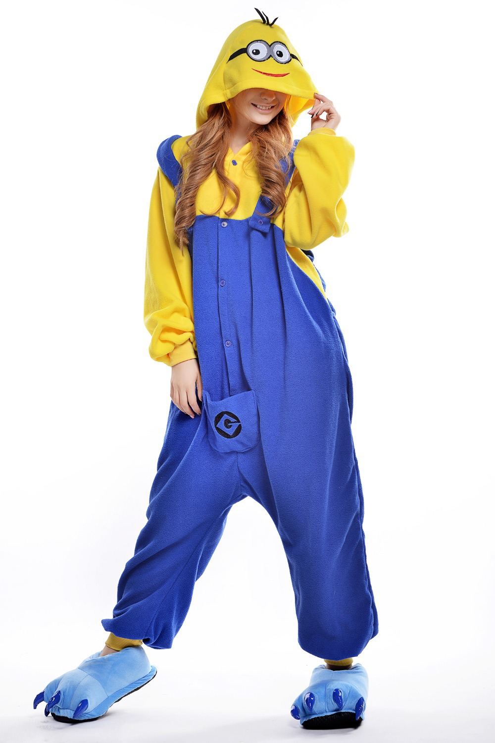 024411e8837199 US $33.99 |Minion Costume/ Plus Size Halloween Costume for Women/ Adult  Animal Footed Pajamas/ Men's Onesie/ Anime Cosplay/ Fancy Sleepwear-in  Mascot ...