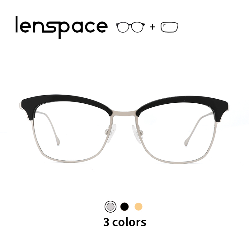 Women Cat Eye Glasses Retro Woman Eyeglasses Acetate Glasses Frame Optical Prescription Glasses Silver Men Women Myopia Glasses(China)
