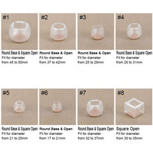 10pcs Silicone Rectangle Square Round Chair Leg Caps Feet Pads Furniture Table Covers Wood Floor Protectors DC112(China)