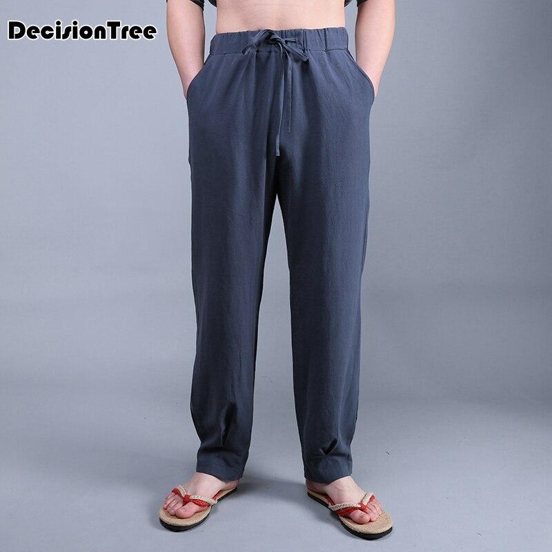 2019 été hommes pantalon taille haute élastique large jambe pantalon à lacets fitness lâche danse yoga pantalon streetwear thai harem pantalon