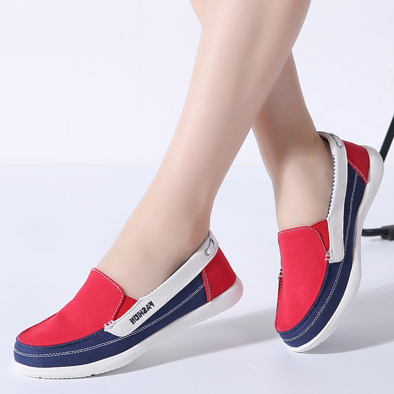 2019 Spring Women Sneakers Canvas Vulcanized Flats