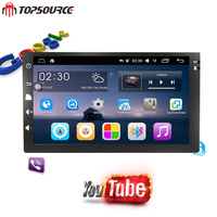 TOPSOURCE 2 din android6.0 Car DVD Radio Player WiFi 16g For Nissan TOYOTA Volkswagen universal GPS Navigation Maps 1024X600