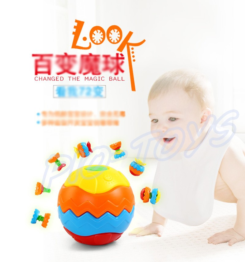 Hotsale Gift Baby Transformation Ball Magic Cubes Education Toys Puzzles Learning IQ Game For Kids Sport Children Building Model 1