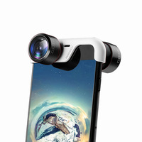 360 Degree phone Lens Spherical Panoramic Photo Picture Plug and Play Clip On dual Lenses for iPhone 6/6S/6 PLUS/6S PLUS/ 7/8