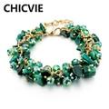2017 Fashion Charm Bracelet & Bangle Crystal Stone Gold Plated Bracelets For Women Friendship Bracelets Femme Jewelry SBR140192