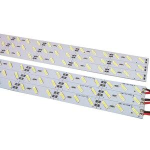 Image 3 - 100pcs 0.5m 1m HA CONDOTTO LA luce bar 5050 5630 5730 7020 8520 4014 12V ha condotto la striscia rigida bianco/bianco caldo/RGB rosso sotto armadio da cucina
