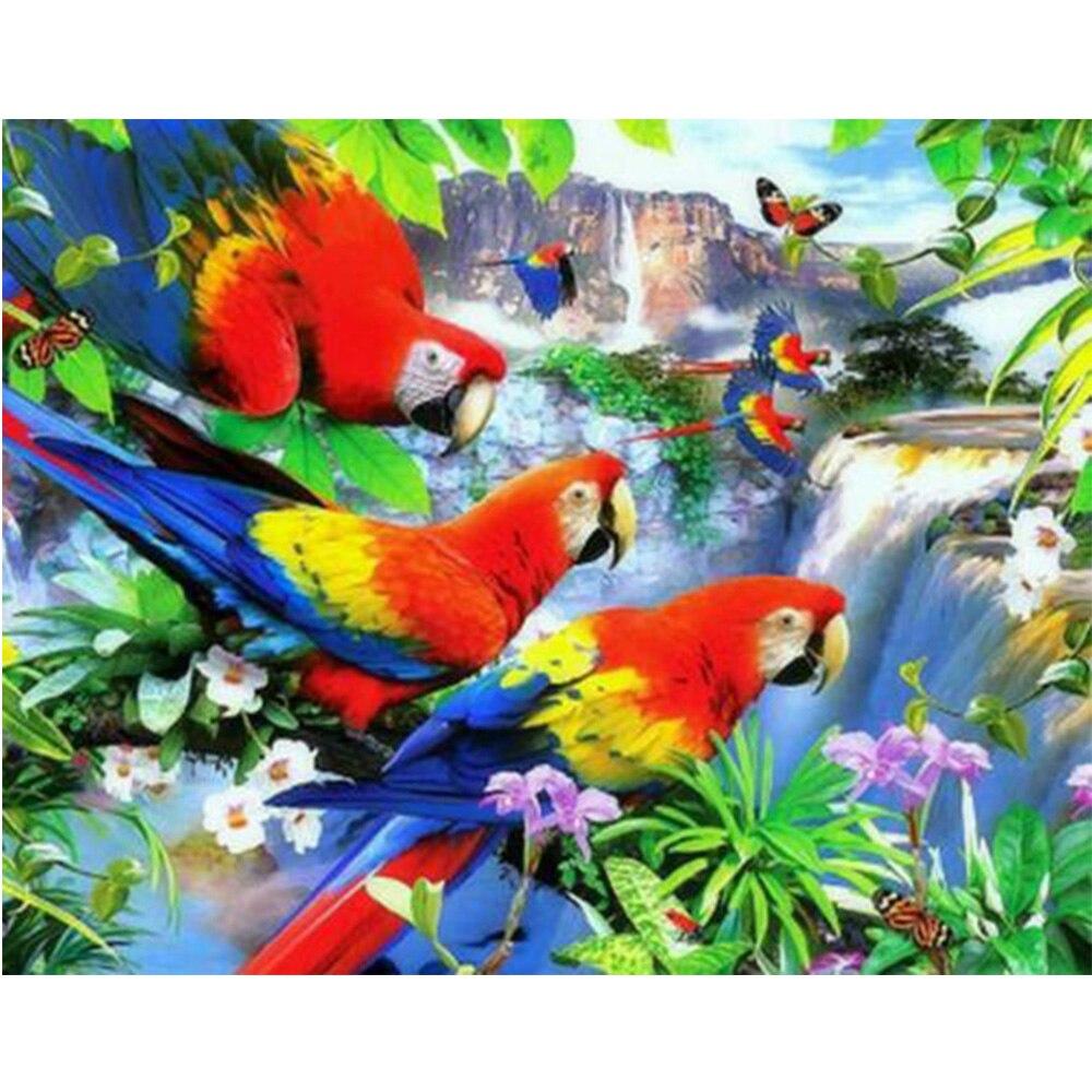 diamante embroidery diy animale needlework artigianato migliore diamante pieno ricamo birds resina inlay pittura home decor M60