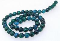 Unique Pearls jewellery Store,8mm Round Azurite Chrysocolla Jasper Loose Beads One Full Strand 15'' LC3 0159