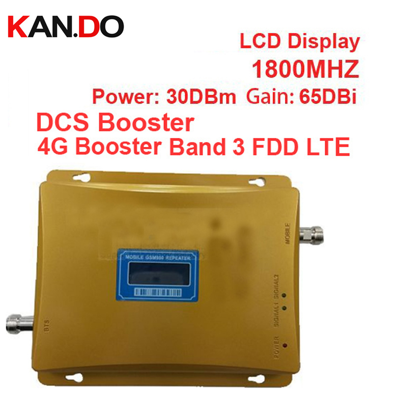 BAND 3 FDD LTE 4G Booster 980 Power 30 Dbm Gain 65dbi LCD Display DCS 1800mhz Mobile FDD Booster Repeater DCS Booster Repeater